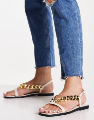Светлые сандалии с цепочкой Topshop Penny-Белый