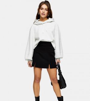 Черная мини-юбка из бенгалина Topshop Petite-Черный цвет