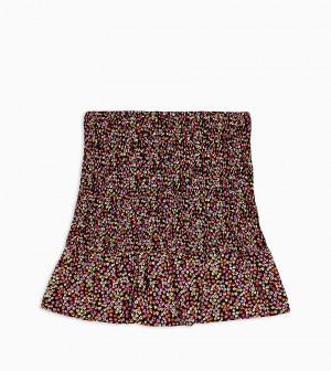 Мини-юбка со сборками и цветочным принтом Topshop Petite-Многоцветный